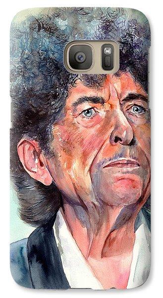 Johnny Cash Galaxy S7 Case - Bob Dylan Watercolor Portrait  by Suzann's Art