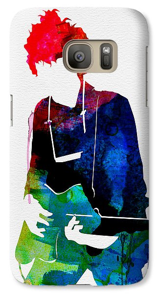 Bob Dylan Galaxy S7 Case - Bob Watercolor by Naxart Studio