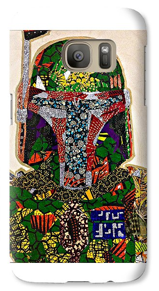 Galaxy Case featuring the tapestry - textile Boba Fett Star Wars Afrofuturist Collection by Apanaki Temitayo M