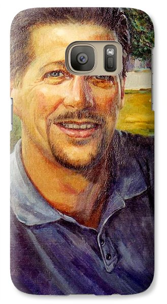 Galaxy Case featuring the painting Bobby by Stan Esson