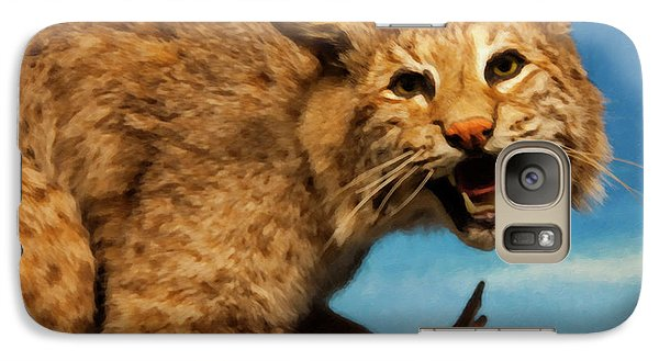 Galaxy Case featuring the digital art Bobcat On A Branch by Chris Flees