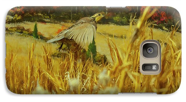 Galaxy Case featuring the digital art Bobwhite In Flight by Chris Flees