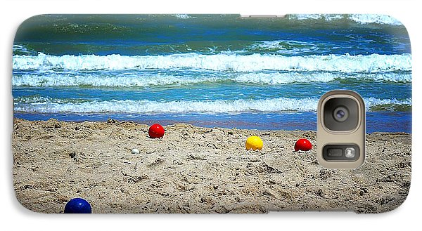 Galaxy Case featuring the photograph Bocce On The Beach by Greg Simmons