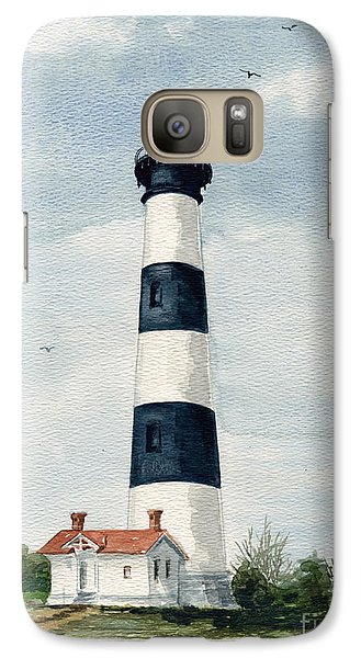 Galaxy Case featuring the painting Bodie Island Lighthouse by Nancy Patterson