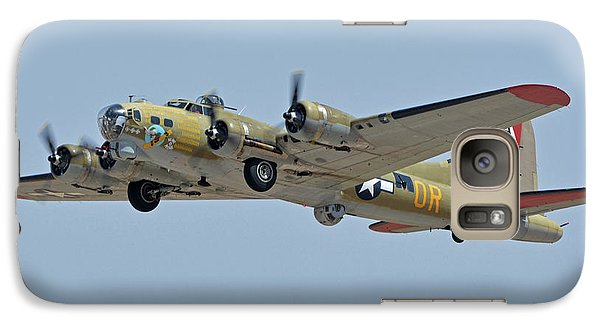 Galaxy Case featuring the photograph Boeing B-17g Flying Fortress N93012 Nine-o-nine Phoenix-mesa Gateway Airport Arizona April 15, 2016 by Brian Lockett