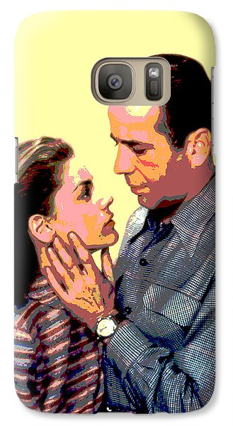 Galaxy Case featuring the mixed media Bogart And Bacall by Charles Shoup