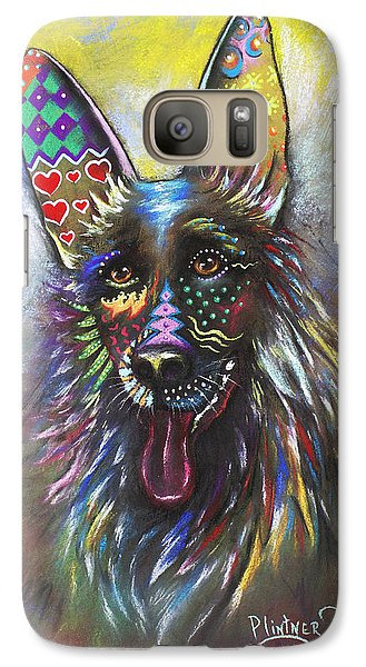 Galaxy Case featuring the mixed media German Shepherd by Patricia Lintner