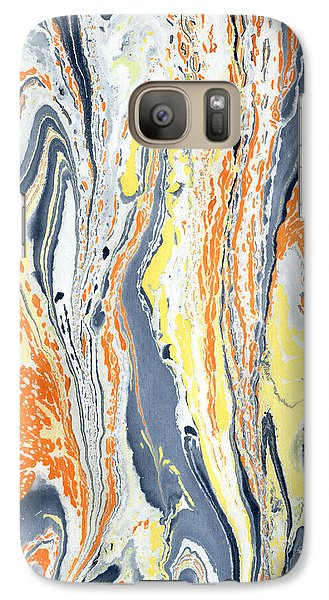 Galaxy Case featuring the painting Boiling Lava by Menega Sabidussi