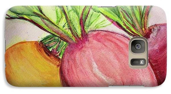 Galaxy Case featuring the painting Bold Beets by Kim Nelson