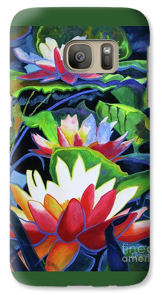 Galaxy Case featuring the painting Bold Lilypads by Kathy Braud