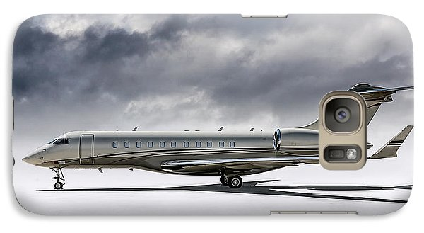 Galaxy Case featuring the digital art Bombardier Global 5000 by Douglas Pittman