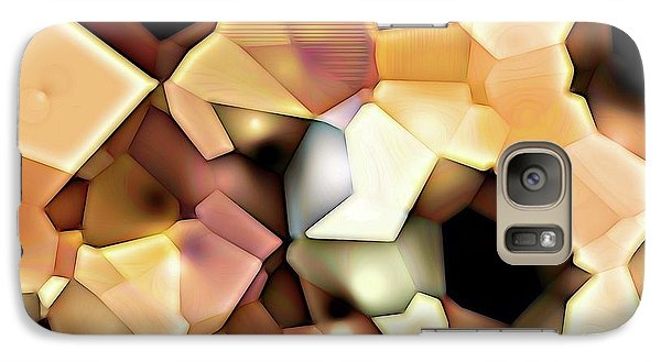 Galaxy Case featuring the digital art Bonded Shapes by Ron Bissett