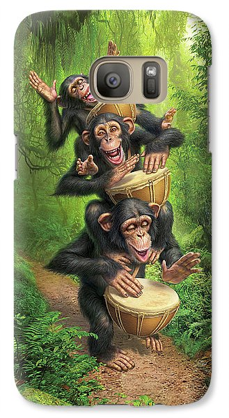 Drum Galaxy S7 Case - Bongo In The Jungle by Mark Fredrickson