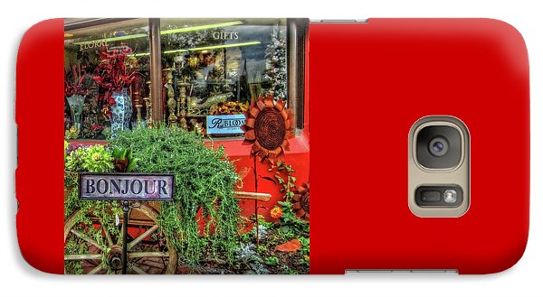 Galaxy Case featuring the photograph Bonjour Hello Good Day by Thom Zehrfeld