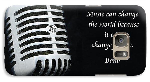 Bono On Music Galaxy S7 Case by Paul Ward