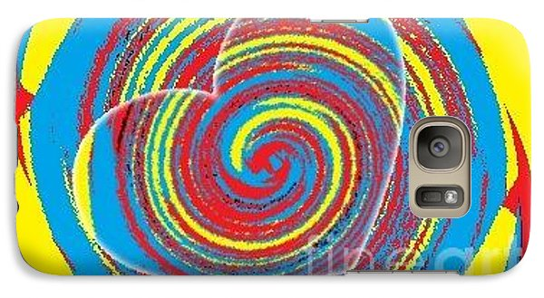 Galaxy Case featuring the painting Boo Hearted by Catherine Lott