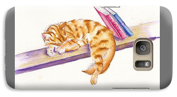 Cat Galaxy S7 Case - Bookend by Debra Hall