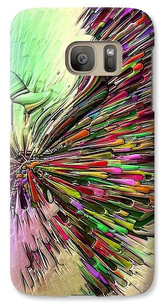 Galaxy Case featuring the digital art Boom Coiors By Nico Bielow by Nico Bielow