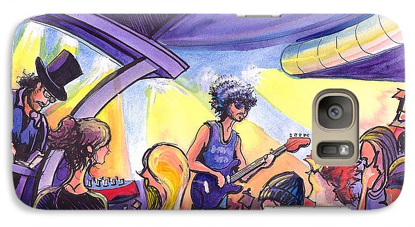 Galaxy Case featuring the painting Boombox At The Barkley by David Sockrider