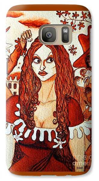 Galaxy Case featuring the painting Boor People And Girl by Don Pedro De Gracia