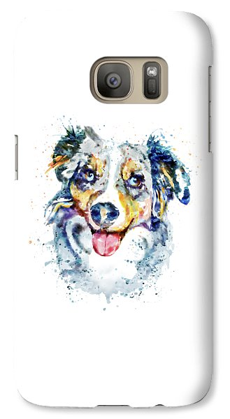 Galaxy Case featuring the mixed media Border Collie  by Marian Voicu