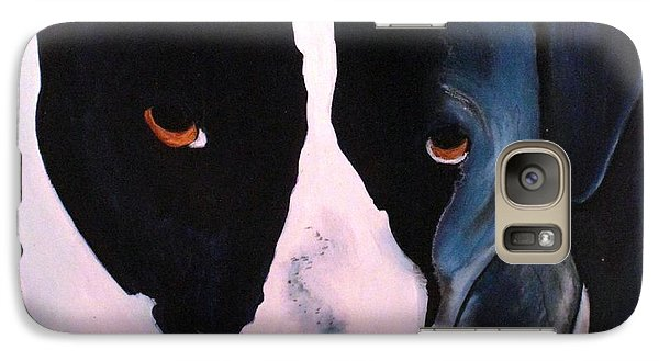 Galaxy Case featuring the painting Border Collie- Sasha by Laura  Grisham