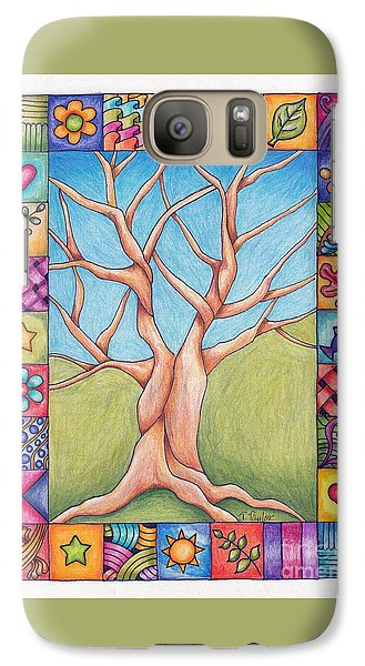 Galaxy Case featuring the drawing Border Of Life by Terry Taylor