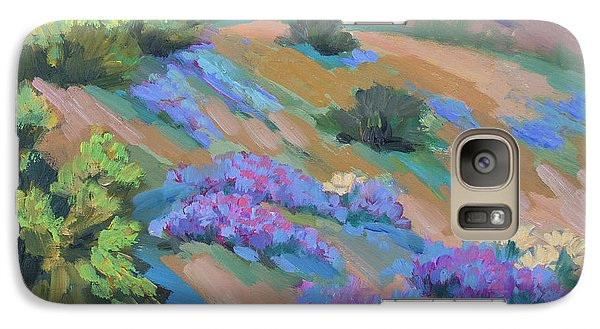 Galaxy Case featuring the painting Borrego Springs Verbena by Diane McClary