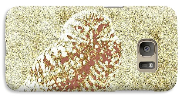 Galaxy Case featuring the photograph Borrowing Owl by Timothy Lowry