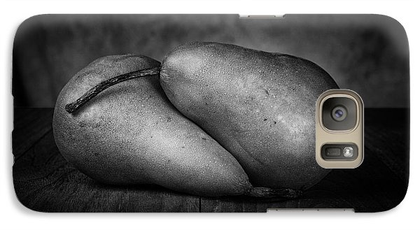 Pear Galaxy S7 Case - Bosc Pears In Black And White by Tom Mc Nemar