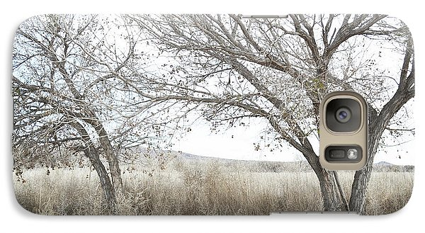 Galaxy Case featuring the photograph Bosque Dreamy Tree Field by Andrea Hazel Ihlefeld