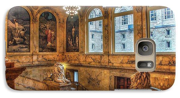 Galaxy Case featuring the photograph Boston Public Library Architecture by Joann Vitali