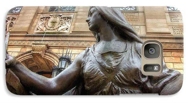 Galaxy Case featuring the photograph Boston Public Library Lady Sculpture by Joann Vitali