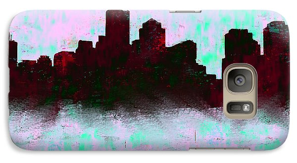 Boston Skyline Sky Blue  Galaxy S7 Case by Enki Art