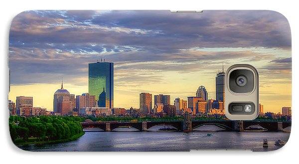 Boston Skyline Sunset Over Back Bay Galaxy S7 Case