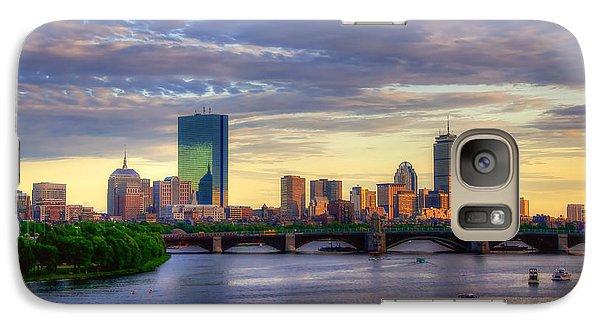 Boston Skyline Sunset Over Back Bay Galaxy S7 Case by Joann Vitali