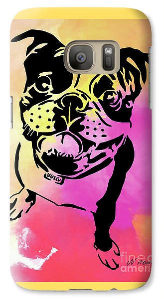 Boston Terrier Art By Nikki And Kaye Menner Galaxy S7 Case by Kaye Menner