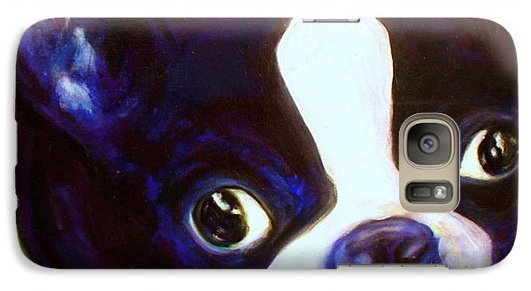 Galaxy Case featuring the painting Boston Terrier - Elwood by Laura  Grisham