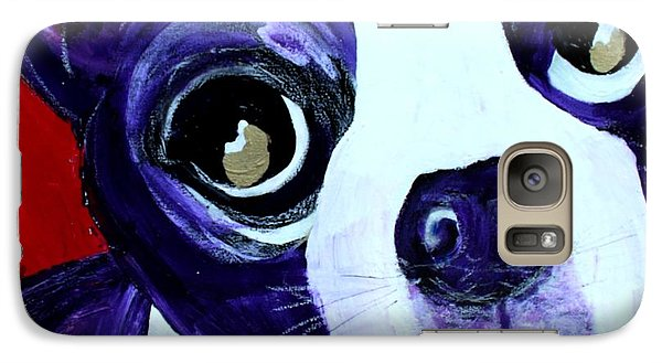 Galaxy Case featuring the painting Boston Terrier- Lucy by Laura  Grisham