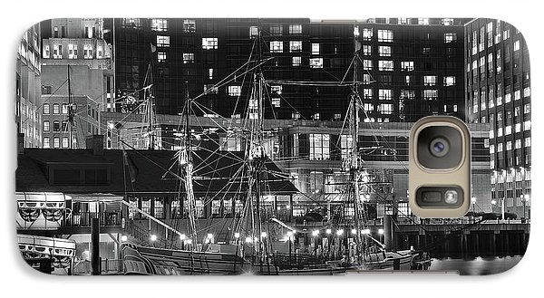 Galaxy Case featuring the photograph Bostonian Black And White by Frozen in Time Fine Art Photography