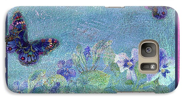Galaxy Case featuring the painting Botanical And Colorful Butterflies by Judith Cheng