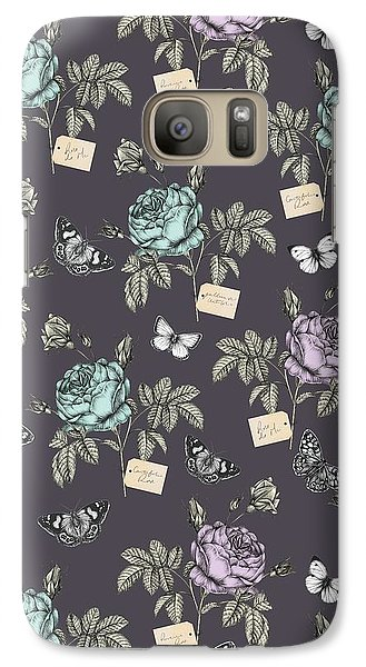 Botanical Roses Galaxy S7 Case by Stephanie Davies