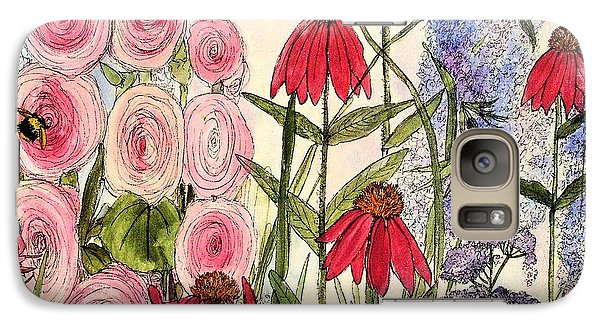 Galaxy Case featuring the painting Botanical Wildflowers by Laurie Rohner