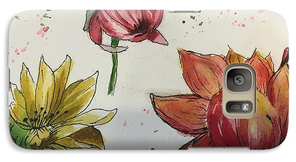 Galaxy Case featuring the painting Botanicals by Lucia Grilletto
