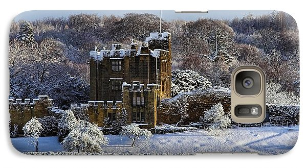 Galaxy Case featuring the photograph Bothal Castle In Winter by Les Bell