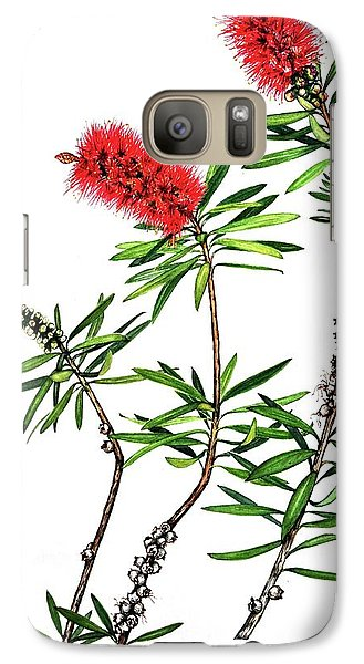 Galaxy Case featuring the painting Bottle Brush by Heidi Kriel