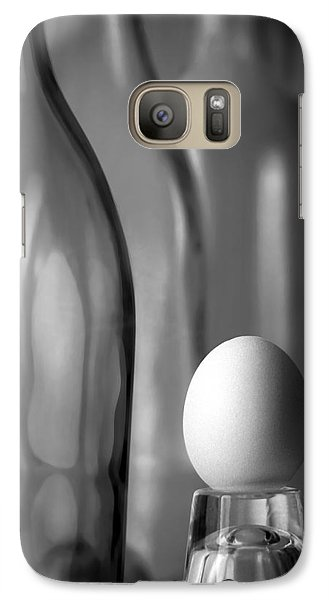 Galaxy Case featuring the photograph Bottles And Egg by Joe Bonita