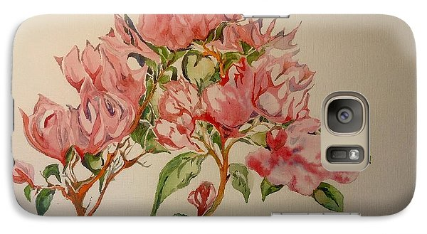 Galaxy Case featuring the painting Bougainvillea by Iya Carson