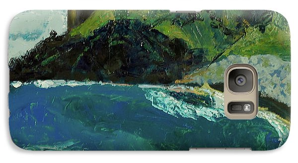 Galaxy Case featuring the painting Boulder Beach by Paul McKey