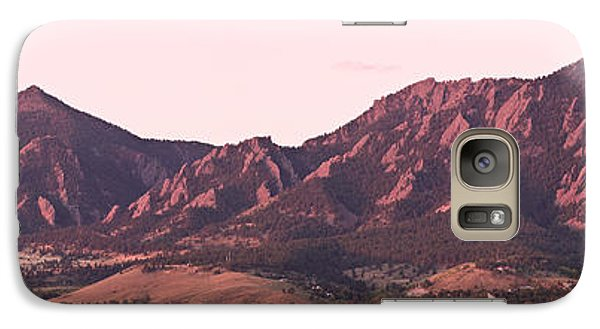 Boulder Colorado Flatirons 1st Light Panorama Galaxy S7 Case
